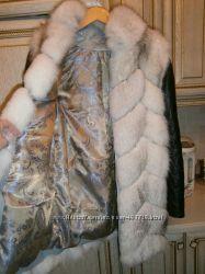 Куртка жилет трансформер из натурального меха песца
