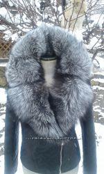 В наличии куртка косуха стеганная натуральная кожа и мех чернобурки