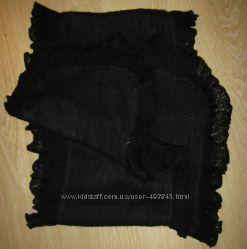 продам красивы шарф новый черный мягкий с рюшами