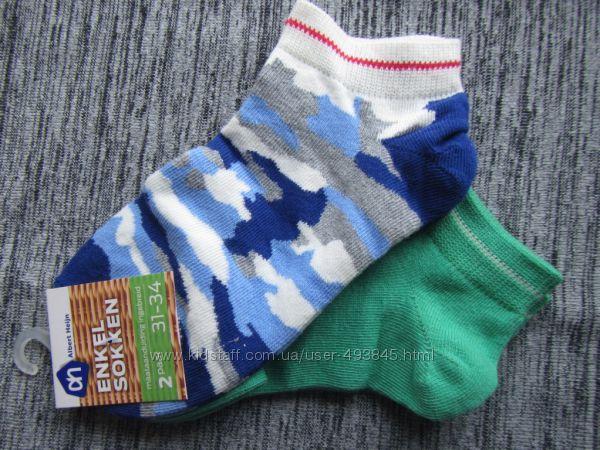 новые импортные носки упаковка 2 шт 31-34 размер мальчику хлопок