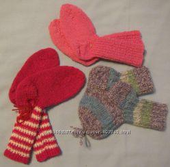 новые вязаные теплые носки разные