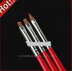 Набор кистей для дизайна и росписи ногтей