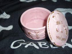 Винтажная керамическая шкатулка