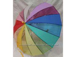 Детский радужный зонтик трость на 16 спиц от Feeling Rain Венгрия