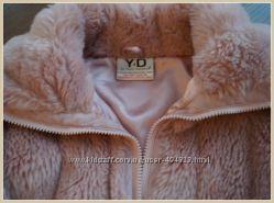 Cтильная шубка- курточка Young dimension в отличном состоянии