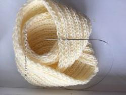 шарф вязаный на спицах