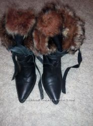 Натуральные зимние ботинки 38 р
