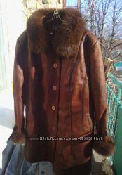 красивая куртка с песцом, большой размер, 56
