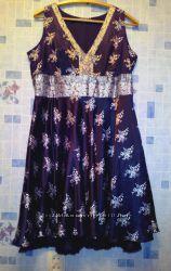 платье атласное,  размер 52-54