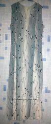 роскошное длинное летнее платье в пол, 54-56 размер