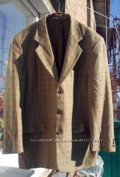 мужской пиджак, шерсть, большой размер, 56-58