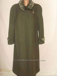 Элегантное пальто, шерсть, Италия, размер 54-56