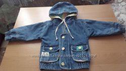 детская джинсовая куртка-ветровка