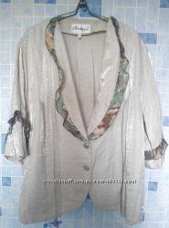 летний шифоновый костюм, тройка, большой размер