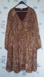 легкое шифоновое платье, большой размер, 56-62