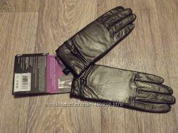 Новые кожаные перчатки ISOTONER на флисовой подкладке 7, 5р.