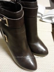 Новые ботинки оригинал GUESS коричневые, натуральная кожа