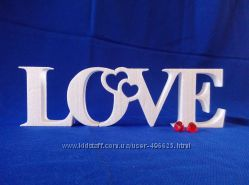 Объемные буквы и слова из пенопласта или дерева, вывески - оформление