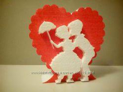 День Св. Валентина и 8марта - изделия из пенопласта и др. материалов