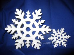 Снежинки из пенопласта , украшения