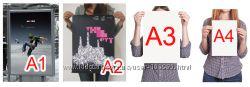 Печать плакатов А0, А1, А2, А3, А4
