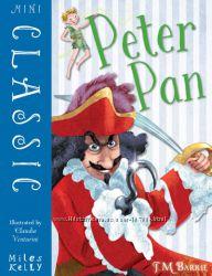 Питер Пэн на английском, полный текст, мини-формат, цветные иллюстрации