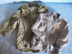 Курточка-ветровка OHARA с флисовой подстежкой, 3-в-1, р. 86