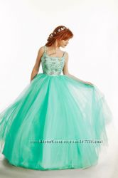 Вечернее пышное бальное платье Аквамарин