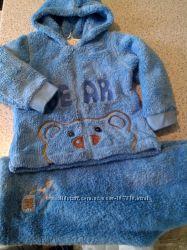 Теплые костюмы для малышей махра флис велюр Валери-текс