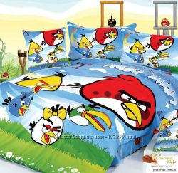 Детское постельное белье Angry birds, Тачки, Губка Боб, Винкс, Белоснежка