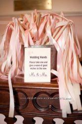 Свадебные палочки с лентами