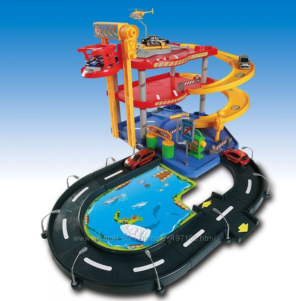 Игровой набор - Гараж 3 уровня, 2 машинки