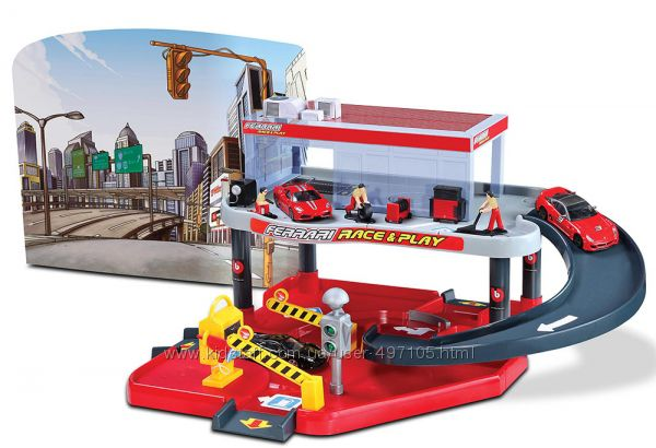 Игровой набор - Гараж Ferrari 2 уровня