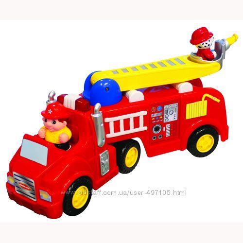 Развивающая игрушка - ПОЖАРНАЯ МАШИНА (на колесах, свет, звук)