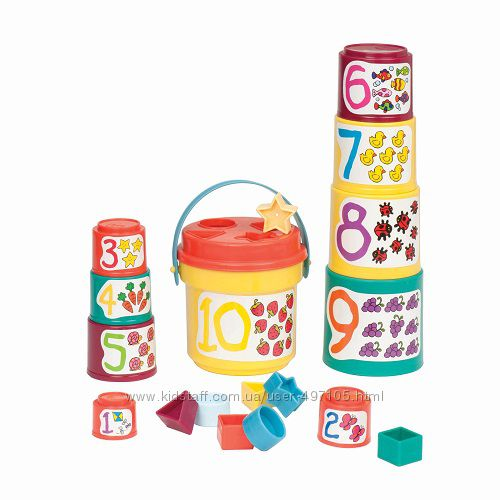 245 грн Развивающая игрушка - ЦВЕТНАЯ ПИРАМИДКА (7 предметов)