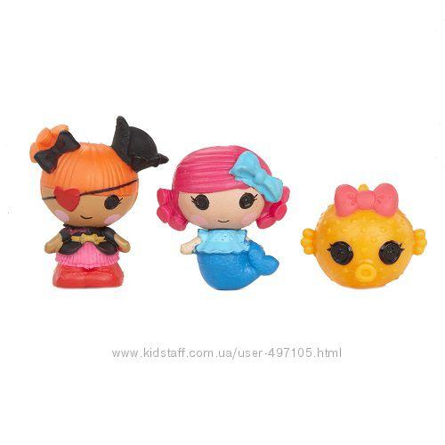 143 грн Набор с куклами КРОШКАМИ LALALOOPSY - РУСАЛОЧКА И ПИРАТКА ПЭГГИ (2 куклы, питомец)