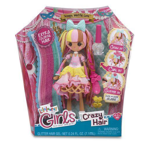 665 грн Набор с куклой LALALOOPSY GIRLS серии Crazy Hair - ВАФЕЛЬКА (с аксессуарами)