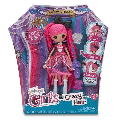 665 грн Набор с куклой LALALOOPSY GIRLS серии Crazy Hair - КОНФЕТТИ (с аксессуарами)