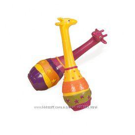 Музыкальная игрушка серии ДЖУНГЛИ - набор маракасов ДВА ЖИРАФА