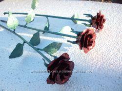 Розы букет, роза поштучно. Кованые цветы
