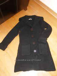 Вязанное пальто-кардиган на осень
