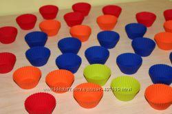 Силиконовые формочки для маффинов, капкейков, кексов