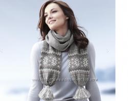 Теплый шерстяной шарф с узором от ТСМ