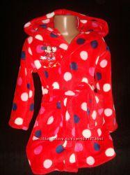 Красивый халат Минни Маус на 2-3 года