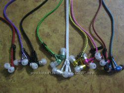 Вакуумные  наушники Metal Zipper на молнии