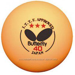 шарики для настольного тенниса Butterfly, Stiga 6 шт.