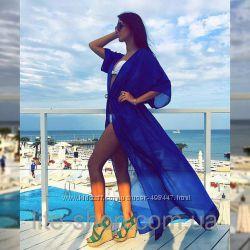 пляжные сарафаны в пол и туники много цветов
