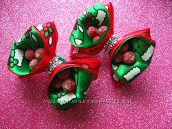 Новогодние резиночки с заснеженной вишней для вашей принцессы