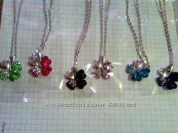 Цепочки, кулоны, ожерелья. Серебро 925, камень цирконий. Каталог