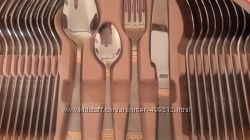 набор столовых приборов люкс класса, 24 карата золото